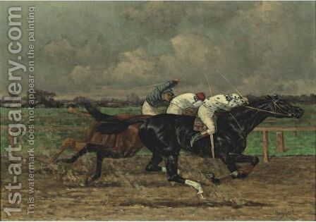 The Finish by Henry Stull - Reproduction Oil Painting