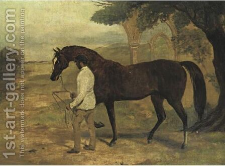 Irish Birdcatcher Led By A Groom by Harry Hall - Reproduction Oil Painting