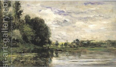 Bords De L'Oise 3 by Charles-Francois Daubigny - Reproduction Oil Painting