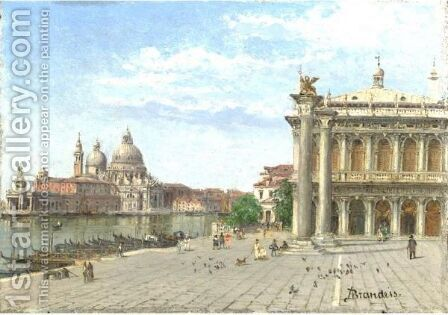 View Of San Marco by Antonietta Brandeis - Reproduction Oil Painting