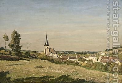 A View Of The Village Of Saint-Prive by Henri-Joseph Harpignies - Reproduction Oil Painting