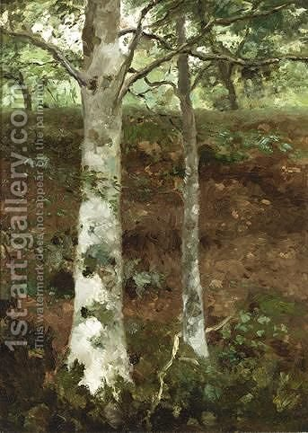 Sous-Bois by Jan Hendrik Weissenbruch - Reproduction Oil Painting