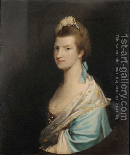 Portrait Of A Lady 5 by (after) Josepf Wright Of Derby - Reproduction Oil Painting