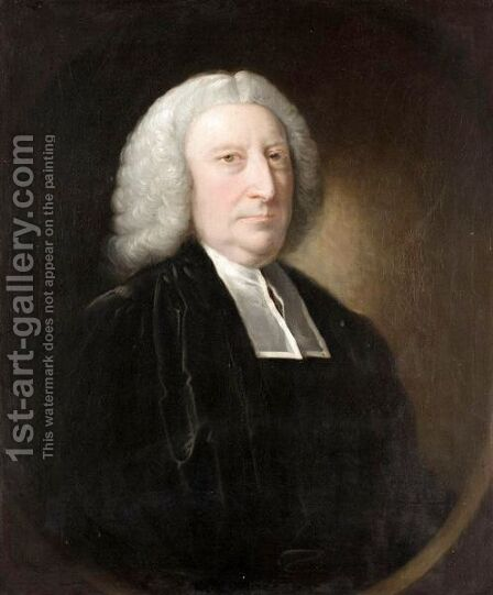 Portrait Of The Rev. Thomas Alleyne Of Loughborough (Died 1761) by (after) John Astley - Reproduction Oil Painting