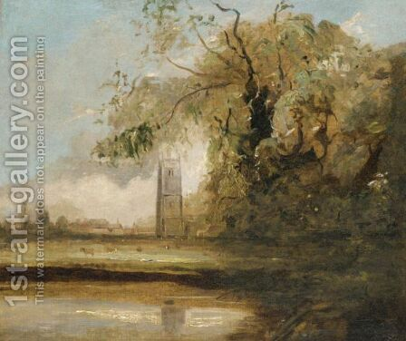 Stoke By Nayland by (after) William Traies - Reproduction Oil Painting