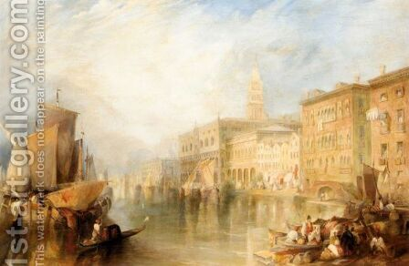 The Canale Grande, Venice by (after) James Holland - Reproduction Oil Painting