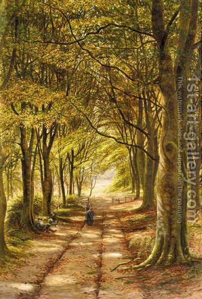 The Woodland Track by Bonomi Edward Warren - Reproduction Oil Painting