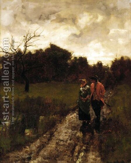 An Evening Stroll by Henry John Yeend King - Reproduction Oil Painting
