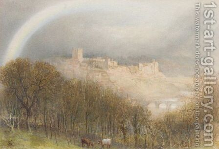 Across The Swale, Richmond, Yorkshire by Albert Goodwin - Reproduction Oil Painting