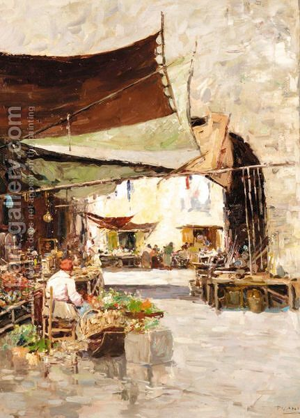 Market Day by Alberto Pasini - Reproduction Oil Painting