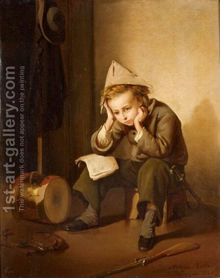 Student Dreamer by Antonio Rotta - Reproduction Oil Painting