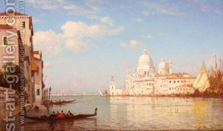 Santa Maria Della Salute, Venice by Amédée Rosier - Reproduction Oil Painting