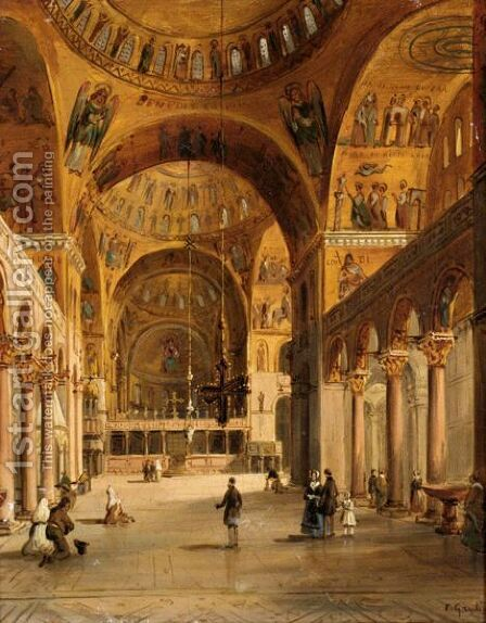 St Mark's Basilica by Carlo Grubacs - Reproduction Oil Painting