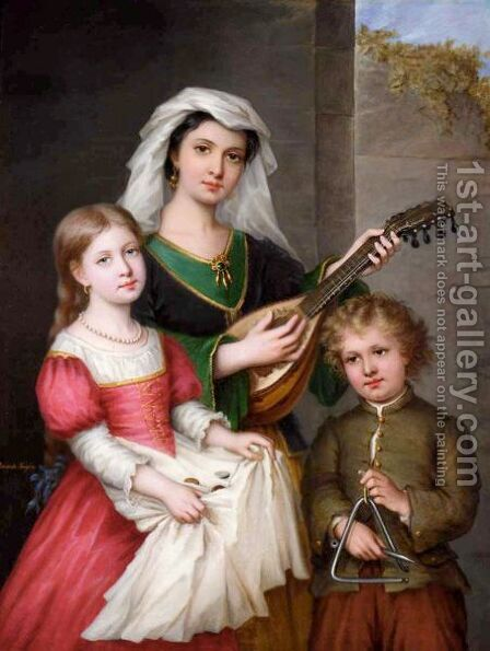 Les Jeunes Musiciens by Amanda Fougere - Reproduction Oil Painting
