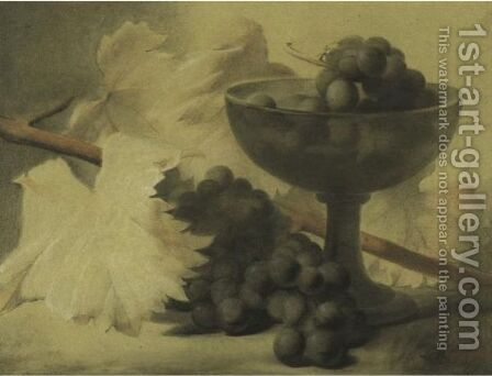 Still Life With Grapes by Antoine Berjon - Reproduction Oil Painting