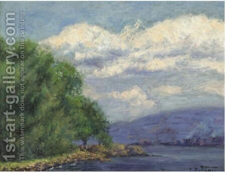 Hudson Valley Landscape by Edward Henry Potthast - Reproduction Oil Painting