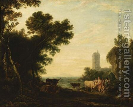 The Rape Of Europa by (after) Claude Lorrain (Gellee) - Reproduction Oil Painting