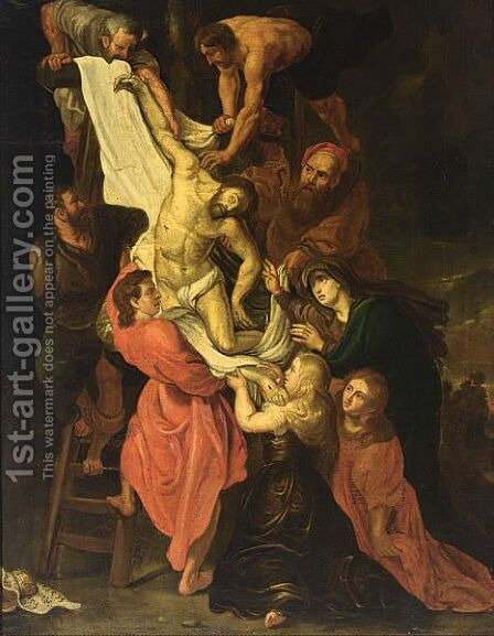 The Descent From The Cross 4 by (after) Sir Peter Paul Rubens - Reproduction Oil Painting