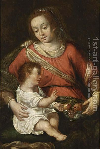 Madonna With Child by (after) Jacob De Backer - Reproduction Oil Painting