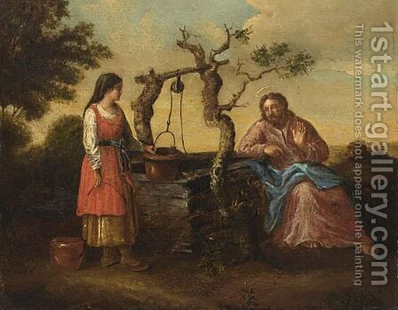 Christ With The Samaritan Woman At The Well by (after) Claes Cornelisz Moeyaert - Reproduction Oil Painting