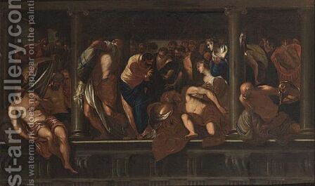Christ Healing The Crippled by (after) Jacopo Tintoretto (Robusti) - Reproduction Oil Painting
