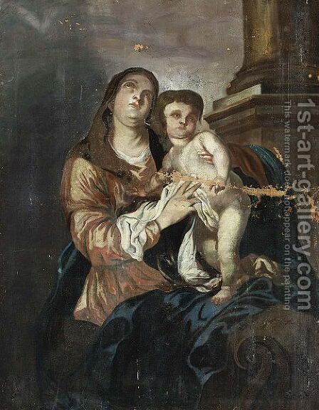 Madonna And Child by (after) Dyck, Sir Anthony van - Reproduction Oil Painting