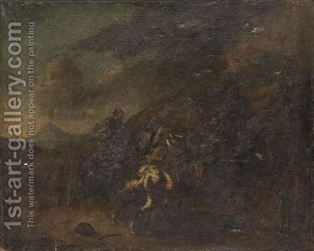 A Cavalry Skirmish 12 by (after) Jacques (Le Bourguignon) Courtois - Reproduction Oil Painting
