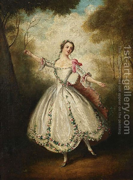 La Camargo Dancing by (after) Lancret, Nicolas - Reproduction Oil Painting