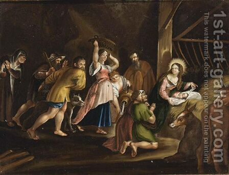 The Adoration Of The Shepherds 4 by (after) Sir Peter Paul Rubens - Reproduction Oil Painting