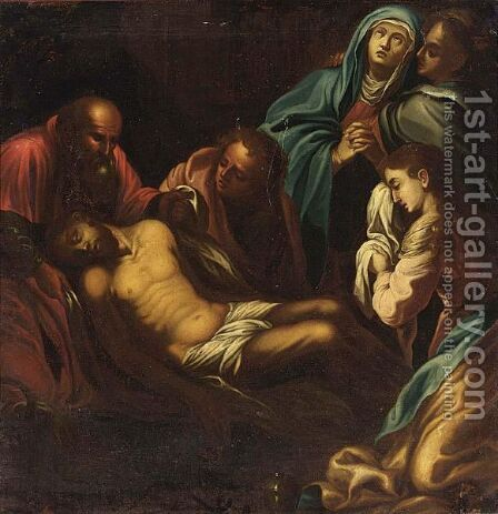 The Lamentation Of Christ by Italian School - Reproduction Oil Painting