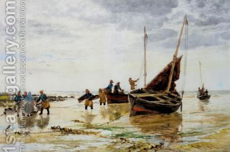The Return Of The Fishing Fleet by Alexander Ballingall - Reproduction Oil Painting