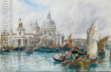 The Entrance To The Grand Canal, Venice by Alexander Ballingall - Reproduction Oil Painting