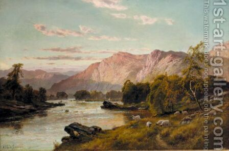 The Evening Glow, Flowing To Vennachar by Alfred de Breanski - Reproduction Oil Painting