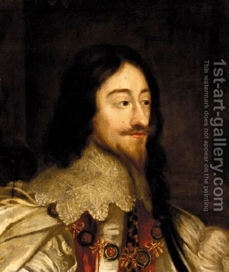 Portrait Of King Charles I 2 by (after) Dyck, Sir Anthony van - Reproduction Oil Painting