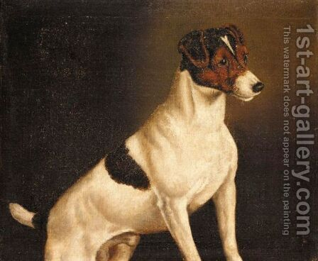 A Jack Russell by (after) John Arnold Wheeler - Reproduction Oil Painting