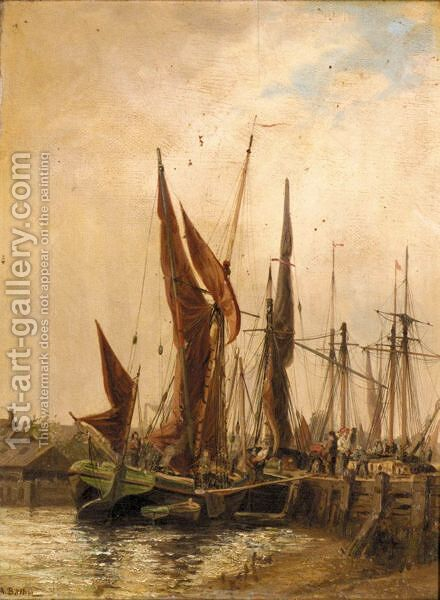 Harbour View by Auguste Ballin - Reproduction Oil Painting