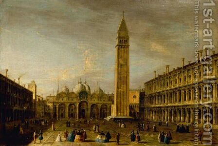 Venice, The Piazza San Marco by Apollonio Domenichini - Reproduction Oil Painting