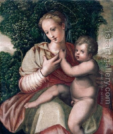 The Madonna And Child by (after) Michele Di Ridolfo Del Ghirlandaio (see Tosini) - Reproduction Oil Painting