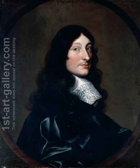 Portrait Of Thomas Marriott Of Whitchurch, Warwickshire by (after) Cornelius De Neve - Reproduction Oil Painting
