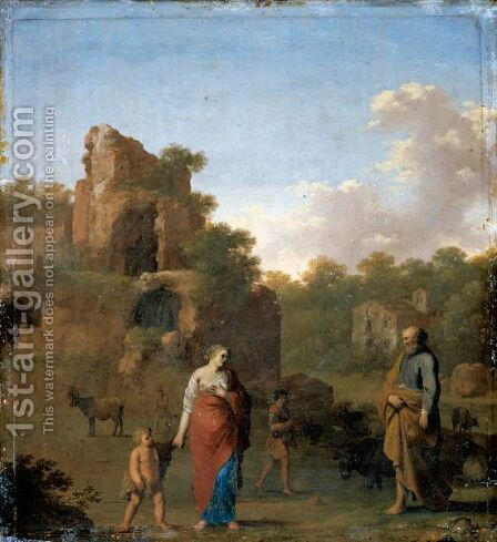 Landscape With The Expulsion Of Hagar And Ishmael by Cornelis Van Poelenburgh - Reproduction Oil Painting