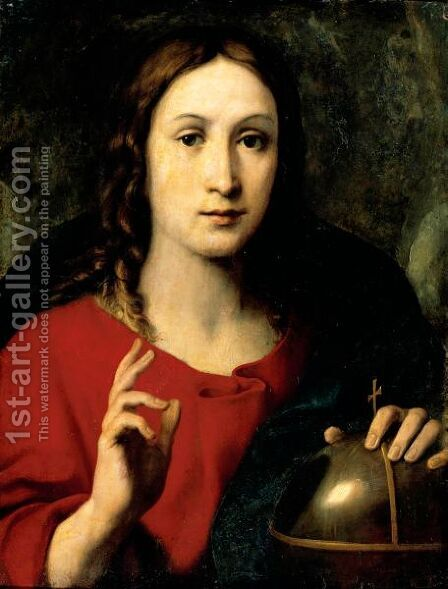 Christ As Salvator Mundi by Daniele Crespi - Reproduction Oil Painting