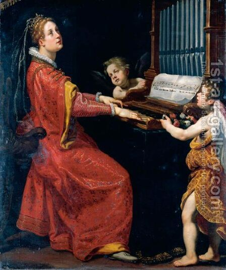 Saint Cecilia by Matteo Rosselli - Reproduction Oil Painting