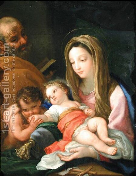 The Holy Family With The Infant Saint John The Baptist by (after) Bartolomeo Giuseppe Chiari - Reproduction Oil Painting