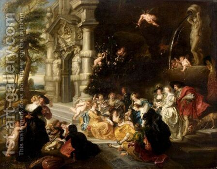 The Garden Of Love 2 by (after) Sir Peter Paul Rubens - Reproduction Oil Painting