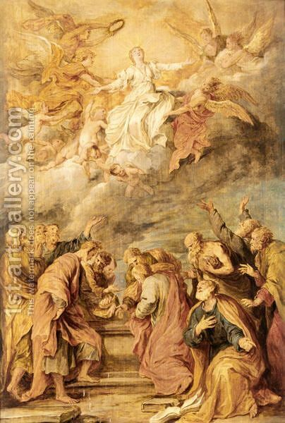 The Assumption Of The Virgin by (after) Dyck, Sir Anthony van - Reproduction Oil Painting