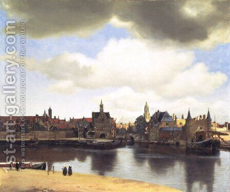 View Of Delft by (after) Johannes Vermeer - Reproduction Oil Painting