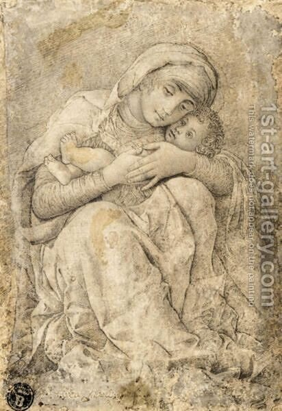 Virgin And Child by (after) Mantegna, Andrea - Reproduction Oil Painting