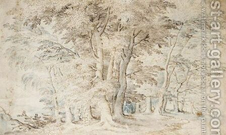 A Clump Of Trees by (after) Jan The Elder Brueghel - Reproduction Oil Painting