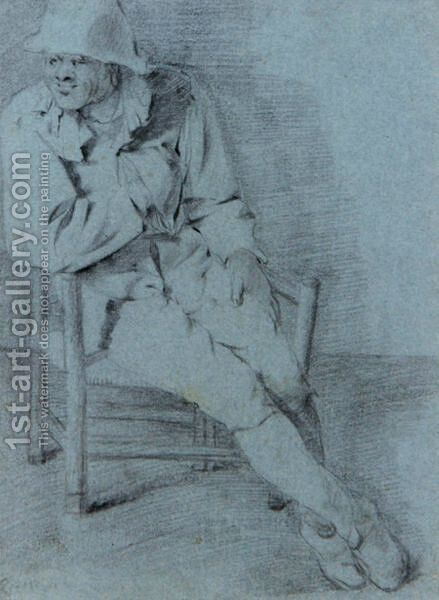 Study Of A Seated Man, One Hand Resting Inside His Jacket by Cornelis (Pietersz.) Bega - Reproduction Oil Painting