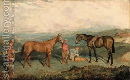 Jock Whitney's Easter Hero And Sir Lindsay by James Lynwood Palmer - Reproduction Oil Painting